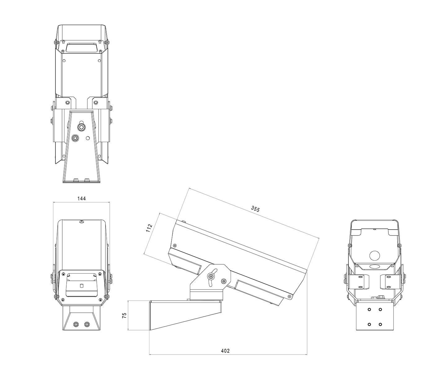 wall mount outdoor camera housing