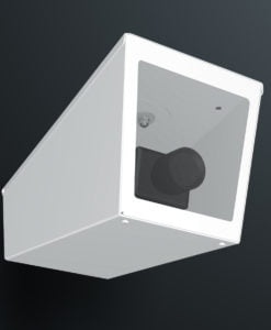 M04LW ceiling mount stainless steel weatherproof wedge camera housing range by Security Design Australia.