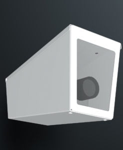M04SW ceiling mount stainless steel weatherproof wedge camera housing range by Security Design Australia.