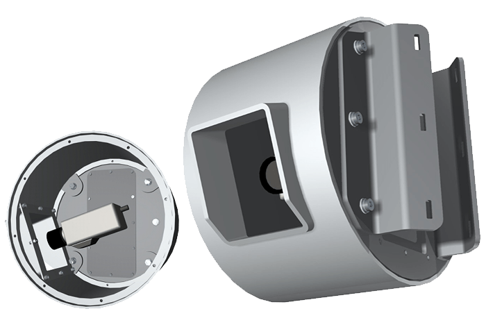 Vandal resistant pole mount housing design and manufacture by Security Design Co, Brisbane