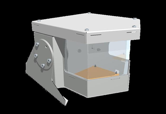 High security PTZ enclosure - custom design and manufacture by Security Design Co, Brisbane