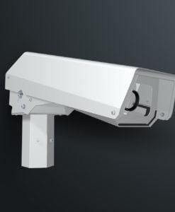 M12PWSS pole top spigot mounted outdoor camera housing with pan tilt action by Security Design CCTV enclosures Australia.