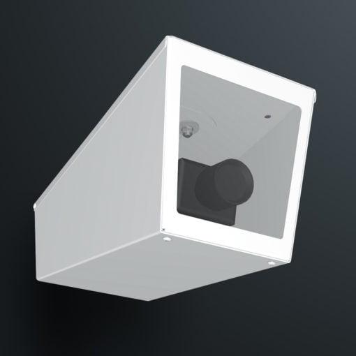M04LW ceiling mount stainless steel weatherproof wedge camera housing range by Security Design Australia.