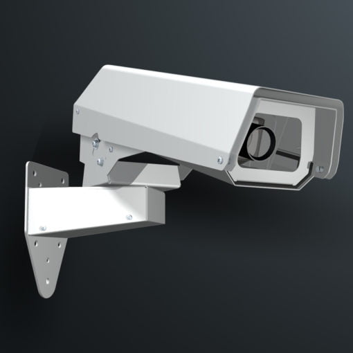 M02WMSS wall mount stainless steel weatherproof outdoor camera housing range by Security Design Australia.