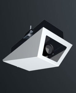 M04RW recessed ceiling mounted wedge camera housing range by Security Design Australia.