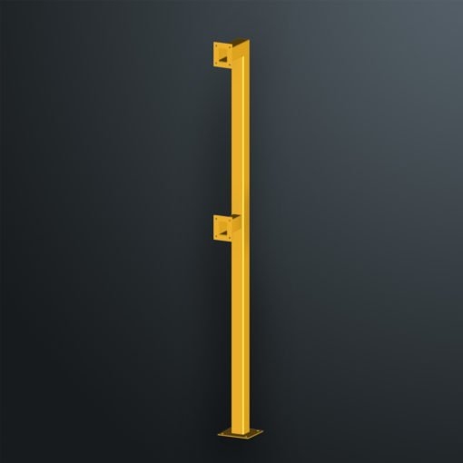 SEQ2 floor mount access control bollard with dual arms is distributed in Australia by Security Design Co Australia.