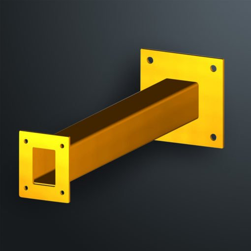 SQW600 wall mount access control bollard is distributed in Australia by Security Design Co Australia.