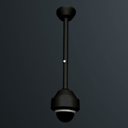 Telescoping camera dropper pole TD1500B black by Security Design Australia.